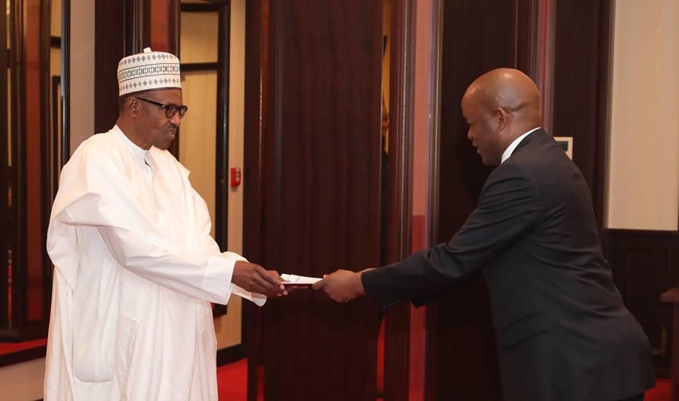Buhari-Botswana Ambassador